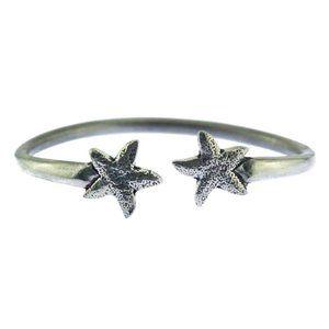 Silver Star Bangle Bracelet